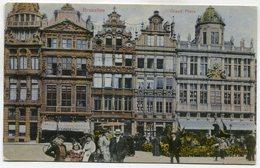 CPA - Carte Postale - Belgique - Bruxelles - Grand Place - 1910 (SV5933) - Marktpleinen, Pleinen
