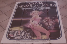 AFFICHE CINEMA ORIGINALE FILM TOOMORROW Val GUEST Olivia NEWTON-JOHN 1970 MUSIQUE TB DESSIN BATTERIE - Posters