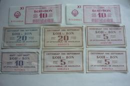 8 Pcs Bon Za Benzin, Dizel 1984, 1992 - Serbie