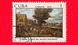 CUBA - Usato - 1979 - Opere D'arte Del Museo Nazionale - Scena Di Genere, Dipinto Di David Teniers - 1 - Cuba