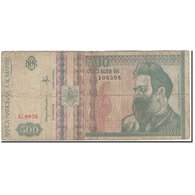Billet, Roumanie, 500 Lei, 1992, KM:101a, B - Rumania