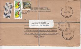 1997 Uganda Postal Stationary Registered Envelope Commercially Used To UK - Uganda (1962-...)