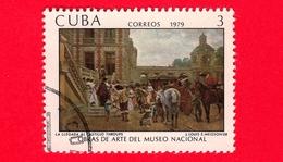 CUBA - Usato - 1979 - Opere D'arte Del Museo Nazionale -  L'arrivo Al Castello, Dipinto J. Louis E. Meissonier - 3 - Cuba