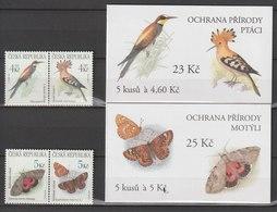 MiNr. 207 - 210 + 3 MH 68 - 70 Tschechische Republik / 1999, 10. März. Gefährdete Tierwelt. - Tschechische Republik