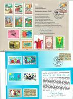 1602v: Kinder: 3 Erinnerungskarten Vereinte Nationen: Kinderimpfung, Weltjugendjahr, Kinderrechte- 2 Scans - Andere