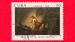 CUBA - Usato - 1979 - Opere D'arte Del Museo Nazionale - Contadini Di Fronte A Una Taverna, Dipinto Di Adriaen Van Ostad - Cuba