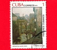 CUBA - Usato - 1979 - Dipinti Di Victor Emmanuel Garcia - Avenue Du Maine, Paris - 1 - Cuba