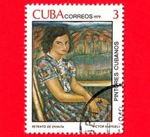 CUBA - Usato - 1979 - Dipinti Di Victor Emmanuel Garcia - Ritratto Di Enmita - 3 - Cuba