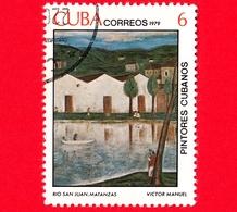 CUBA - Usato - 1979 - Dipinti Di Victor Emmanuel Garcia - Fiume San Juan - Matanzas - 6 - Cuba