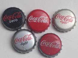 Lote 5 Chapas Kronkorken Caps Tappi Coca Cola. España - Alemania - Capsules