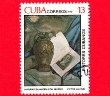 CUBA - Usato - 1979 - Dipinti Di Victor Emmanuel Garcia - Natura Morta Con Vaso - 13 - Cuba