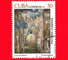 CUBA - Usato - 1979 - Dipinti Di Victor Emmanuel Garcia - Calle De Noche - 30 - Cuba