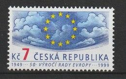 MiNr. 213 Tschechische Republik / 1999, 14. April. 50 Jahre Europarat. - Tschechische Republik