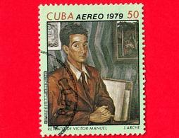 CUBA - Usato - 1979 - Dipinti Di Victor Emmanuel Garcia - Autoritratto - 50 P. Aerea - Posta Aerea