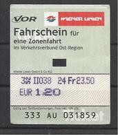 Austria, Wiener Linien, Bus(?) Ticket. - Bus