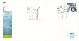 Nederland - FDC - Proefwindmolenpark Sexbierum - Windmolen - NVPH  E233 - Milieubescherming & Klimaat