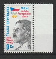 MiNr. 214 Tschechische Republik / 1999, 14. April. 100 Jahre Nationales Olympisches Komitee. - Tschechische Republik