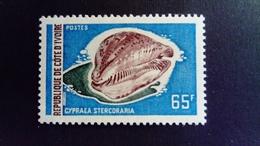 Côte D'Ivoire Ivory Coast 1971 Animal Coquillage Shell Yvert 328 ** MNH - Côte D'Ivoire (1960-...)