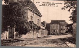 Cpa 70 Maizières Haute Saone Rue De Pourrière La Poste Et Le Monument Déstockage à Saisir - Other Municipalities