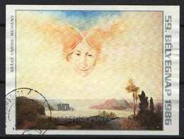 Hungary 1986. Stampday Paintings Nice IMPERF Sheet - Used Michel: Block 185. / 30 !!! EUR - Ungarn