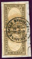 1861-SARDEGNA- RARE PAIR- 10 C.BRUNO GRIGIO-LUXE ! - Sardaigne
