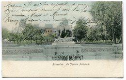 CPA - Carte Postale - Belgique - Bruxelles - Le Square Ambiorix - 1912 (SV5937) - Marktpleinen, Pleinen