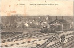 Dépt 51 ESTERNAY - Vue Générale, Prise Du Pont Du Chemin De Fer - (locomotives, Train) - Esternay