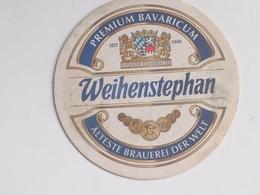 Posavasos Cerveza Weihenstephan. Bayern, Baviera, Alemania. Años '90 - Portavasos