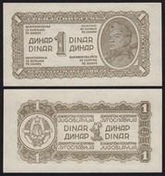 Jugoslawien - Yugoslavia 1 Dinar Banknote 1944 Pick 48b UNC (1) Dickes Papier - Yugoslavia