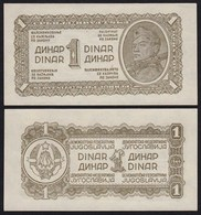 Jugoslawien - Yugoslavia 1 Dinar Banknote 1944 Pick 48b UNC (1) Dickes Papier - Jugoslawien