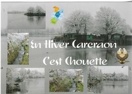 35 - DOMALAIN - En Hiver Carcraon C'est Chouette - 6 Vues +  1 Chouette - Cpm - Pas écrite - - Autres Communes