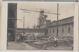 CPA PHOTO 54 VARANGEVILLE Usine La Soudière SOLVAY Canal Péniches Grue 1910 Rare - Francia