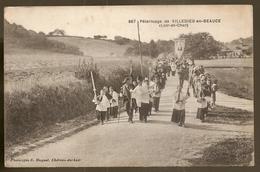 41 Villedieu En Beauce, Pélerinage. Cachet Hopital Temporaire N° 22 (A4p74) - France