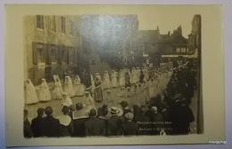 BOULOGNE SUR MER-Procession Du 22 AOUT 1915-Carte Photo 2 - Boulogne Sur Mer
