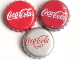 Lote 3 Chapas Kronkorken Caps Tappi Coca Cola. España - Chapas Y Tapas