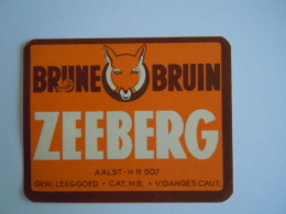 Label Etiquette Bier Bière Beer Zeeberg Brune Bruin - Bière