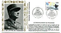 Bureau Temporaire Toulon Du 13 Août 1994 - Débarquement Et Bataille De Provence - X 773 - Guerre Mondiale (Seconde)