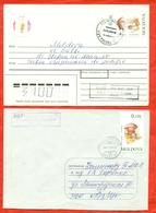 Moldova 1996. Fungi.Two Envelope Is Really Past Mail. - Moldova