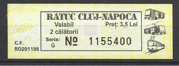Romania, Cluj, Single Ticket, 2012(?).. - Bus