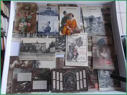 WWI GGI 1914 1918 LOT CPA Militaria Militaires Tranchées Fantaisies Soldats Régiment à Déterminer - Guerra 1914-18