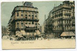 CPA - Carte Postale - Belgique - Bruxelles - Place De La Bourse - 1904 (SV5939) - Places, Squares