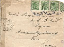 Denmark 1918 Kobenhavn To AEF France French Oval Military Censor Dieppe #12 #0* Danish Soldier Cover - Verenigde Staten