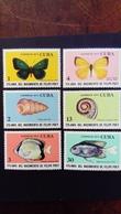 Cuba 1974 Animaux Animals Papillon Poisson Butterfly Fish Yvert 1768-1773 ** MNH - Ungebraucht