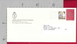 BUSTA VG ITALIA - Istituzione POSTE ITALIANE £ 600 Castelli £ 150 - Azienda PORTO - 11 X 23 - ANN. 1995 CHIOGGIA - 6. 1946-.. Repubblica