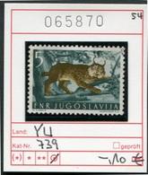 Jugoslawien - Yougoslavie - Jugoslavija - Michel 739 - Oo Oblit. Used Gebruikt - Katzen - Luchs - 1945-1992 Socialistische Federale Republiek Joegoslavië
