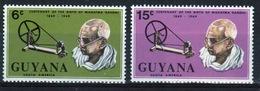 Guyana 1969 Set Of Stamps To Celebrate Birth Centenary Of Gandhi. - Guyana (1966-...)