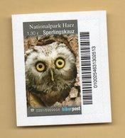 Privatpost -  Biberpost -  (aus Satz Nationalpark Harz) - Sperlingskauz (Glaucidium Passerinum) - Eulenvögel