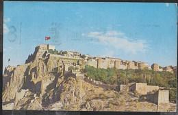 TURCHIA - ANKARA - LA CITTADELLA -FORMATO PICCOLO - VIAGGIATA  1960 FRANCOBOLLO ASPORTATO - Turchia