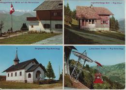 Rigi-Scheidegg - Berggasthaus, Jugendherberge SJH Rigi-Hüsli, Bergkapelle, Luftseilbahn Kräbel - SZ Schwyz