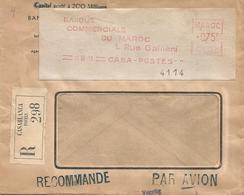 Maroc Morocco 1951 Casablanca Meter Havas CG 4238 EMA Registered Cover - Madagaskar-Sainte-Marie (1894-1898)